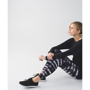 Lululemon high times pant shady palm stripe print